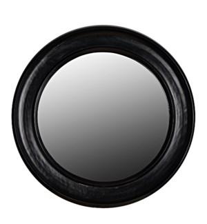 Sutton Mirror, Small, Hand Rubbed Black