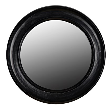 Sutton Mirror, Small, Hand Rubbed Black