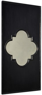 Good Luck Mirror, Hand Rubbed Black w/ Gold Trim