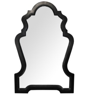 Chipendale Mirror, Hand Rubbed Black