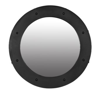 Clay Mirror, Black Metal, Large