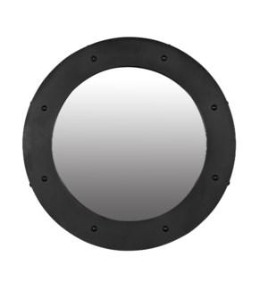 Clay Mirror, Black Metal, Large