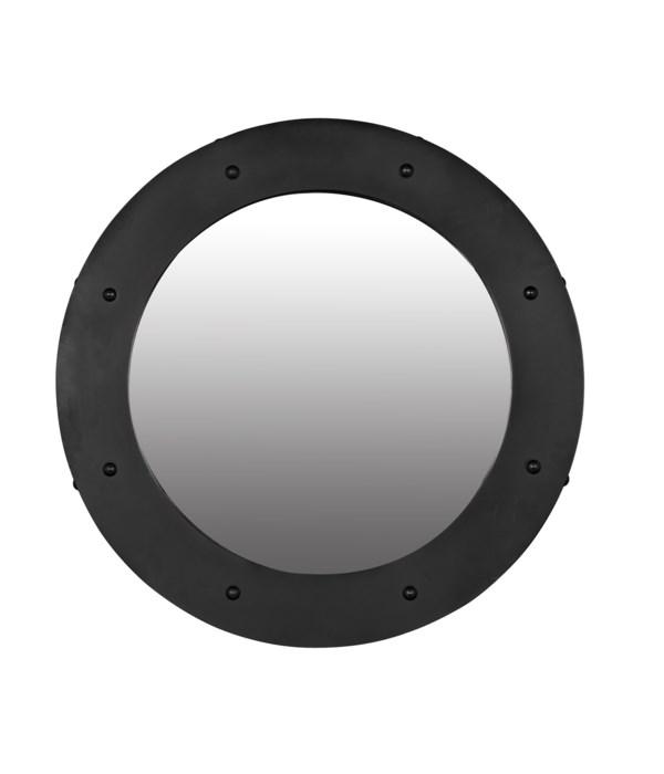 Clay Mirror, Large, Black Steel