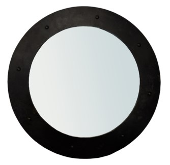 Clay Mirror, Black Metal, Small