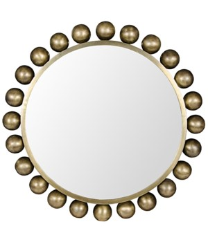 Cooper Mirror, Antique Brass