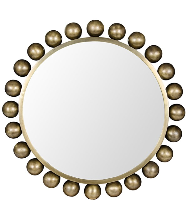 Cooper Mirror, Metal with Brass Finish