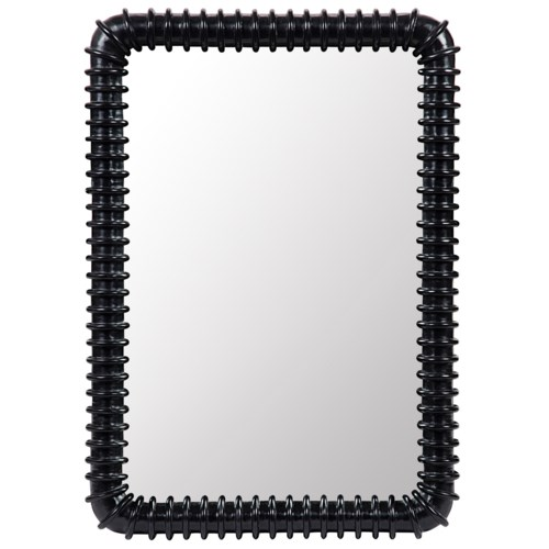 Toshi Mirror, Hand Rubbed Black