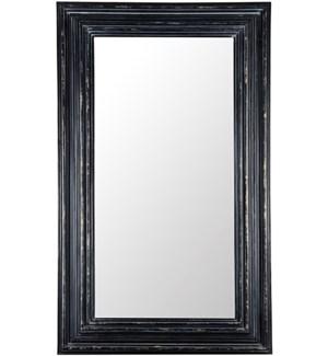 Cordelia Mirror, Hand Rubbed Black w/ Gold Trim
