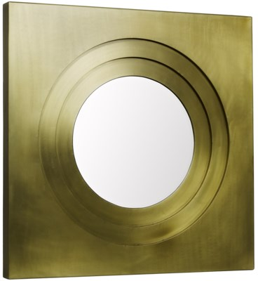 Shane Mirror, Antique Brass