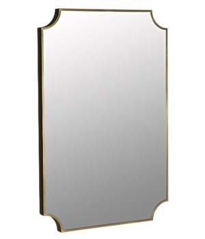Convexed Mirror, Metal Antique Brass