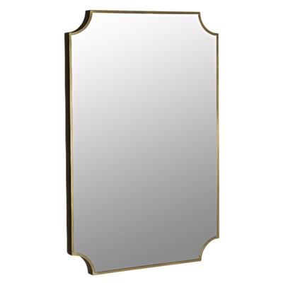 Convexed Mirror, Metal Antique Brass