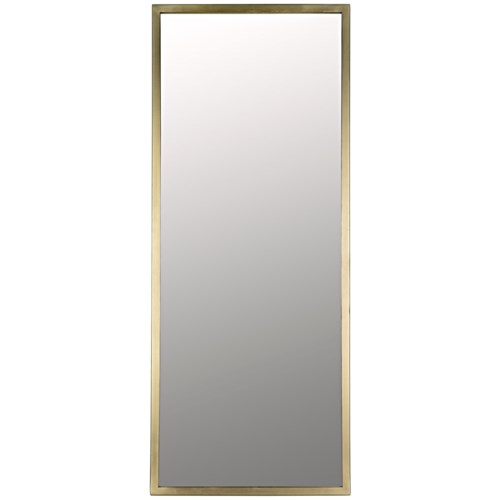 Logan Mirror, Large, Antique Brass