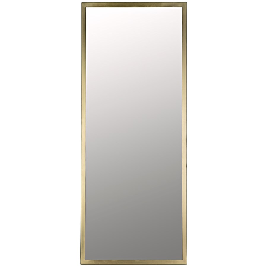 Logan Mirror, Large, Antique Brass