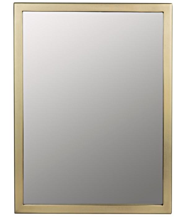Logan Mirror, Small, Metal with Brass Finish