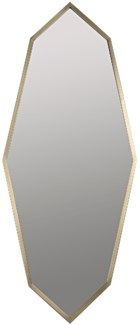 Parsifal Mirror, Antique Brass