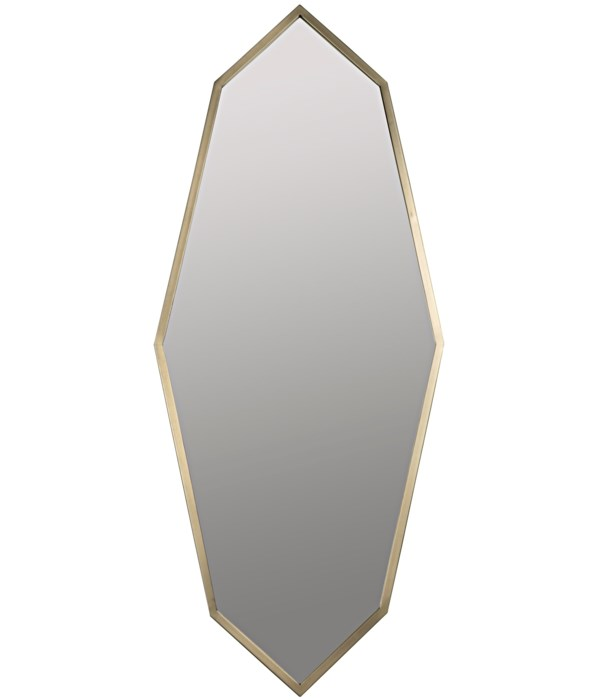 Parsifal Mirror, Metal with Brass Finish