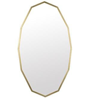 Capult Mirror, Metal w/Brass Finish
