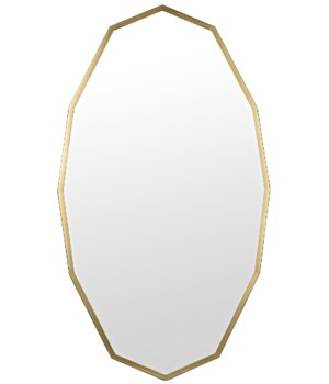 Capult Mirror, Metal w/Brass Finish