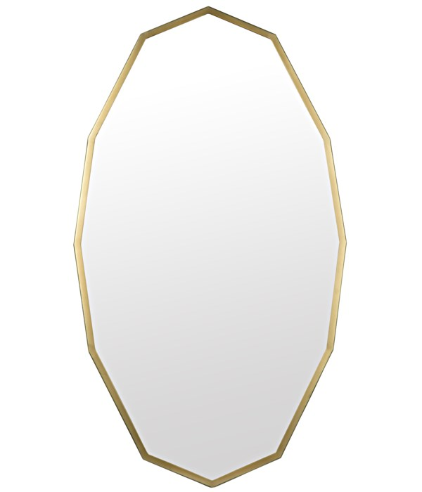 Capult Mirror, Steel with Brass Finish