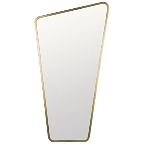 Juliet Mirror, Metal w/Brass Finish