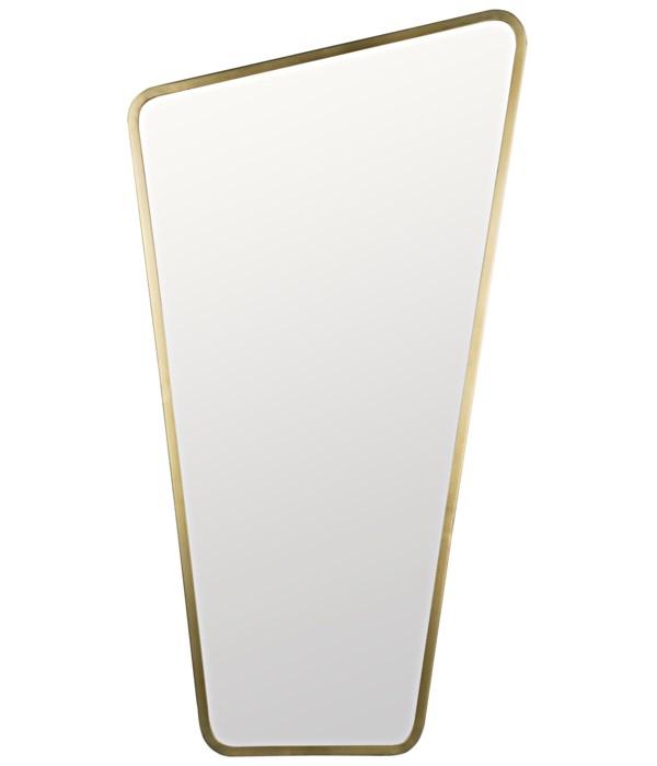 Juliet Mirror, Steel with Brass Finish
