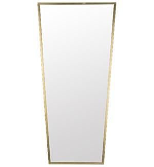 Cassio Mirror, Metal w/Brass Finish