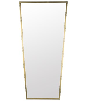 Cassio Mirror, Metal w/Brass Finish