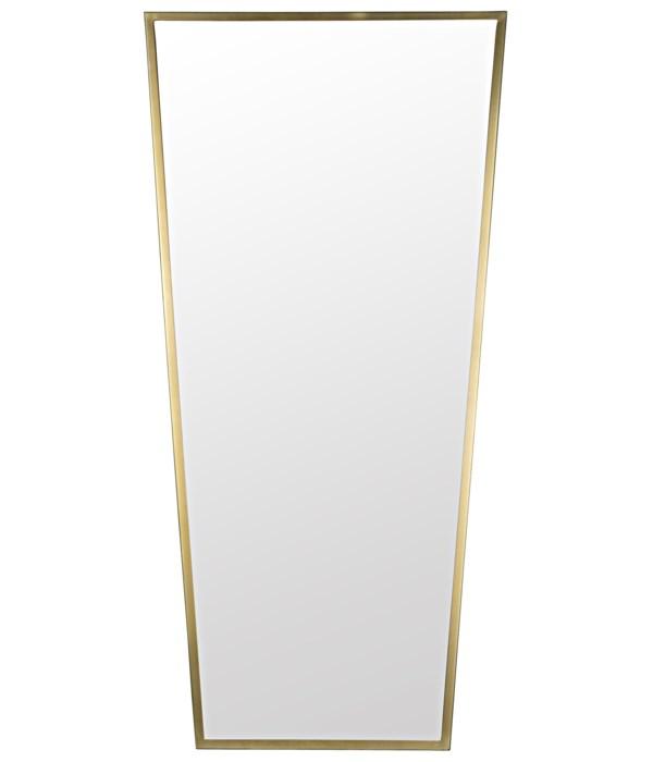 Cassio Mirror, Steel with Brass Finish