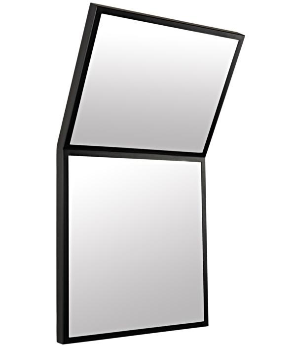 Lazo Mirror, Black Steel