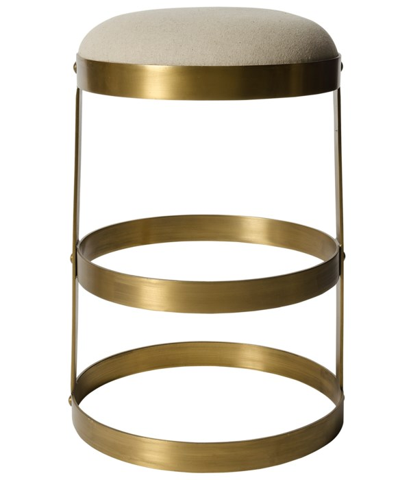 Dior Counter Stool, Metal with Brass Finish
