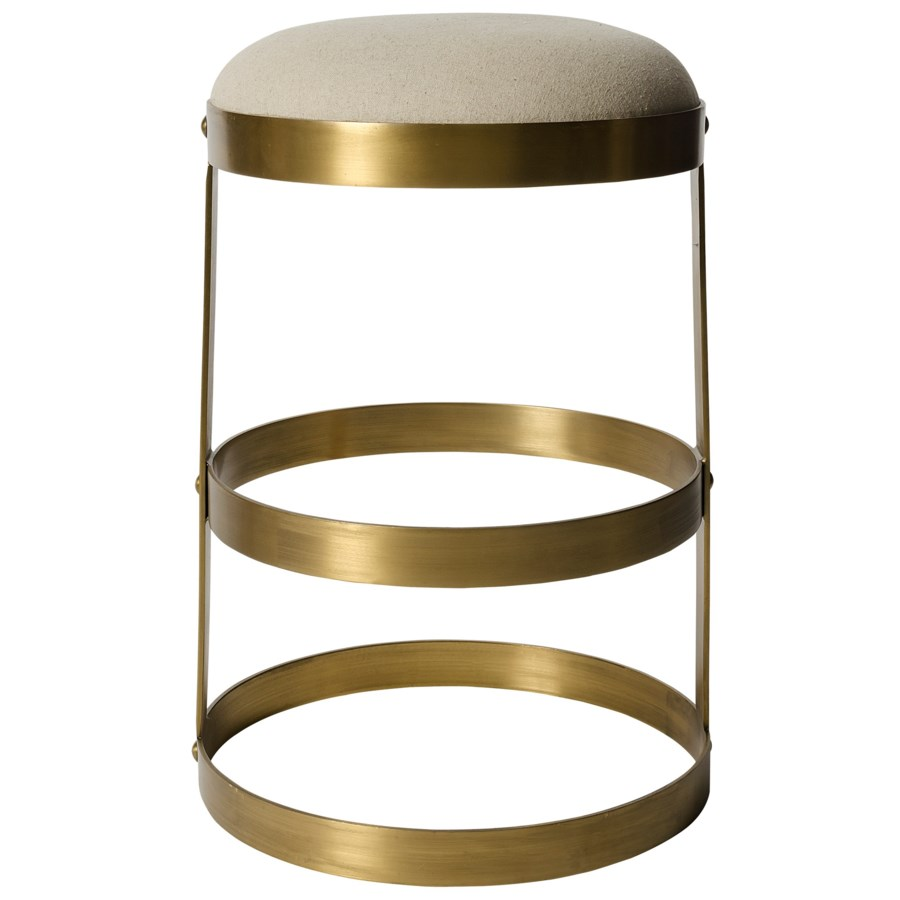 Dior Counter Stool, Antique Brass