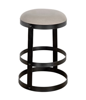 Dior Counter Stool, Black Metal