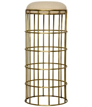 Ryley Barstool, Metal with Brass Finish