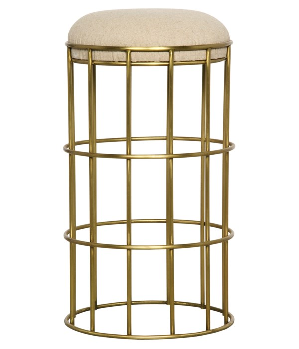 Ryley Counter Stool, Steel with Brass Finish