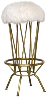 Marsha Barstool, Metal with Brass Finish