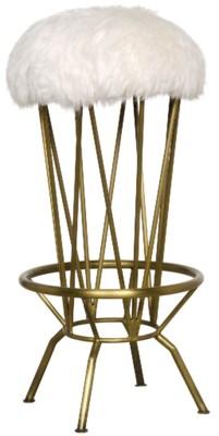 Marsha Barstool, Metal with Brass Finish