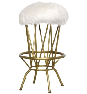Marsha Counter Stool, Metal with Brass Finish