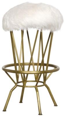 Marsha Counter Stool, Metal with Brass Finish