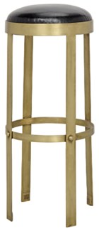 Prince Stool, Gold with Leather