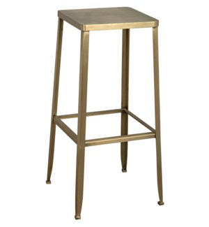 Mauro Bar Stool, Antique Brass