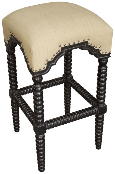 Abacus Bar Stool, Hand Rubbed Black