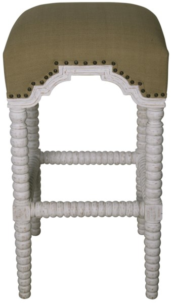 QS Abacus Bar Stool, White Wash