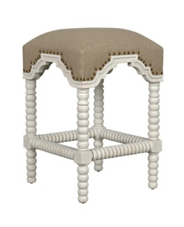 QS Abacus Counter Stool, White Wash