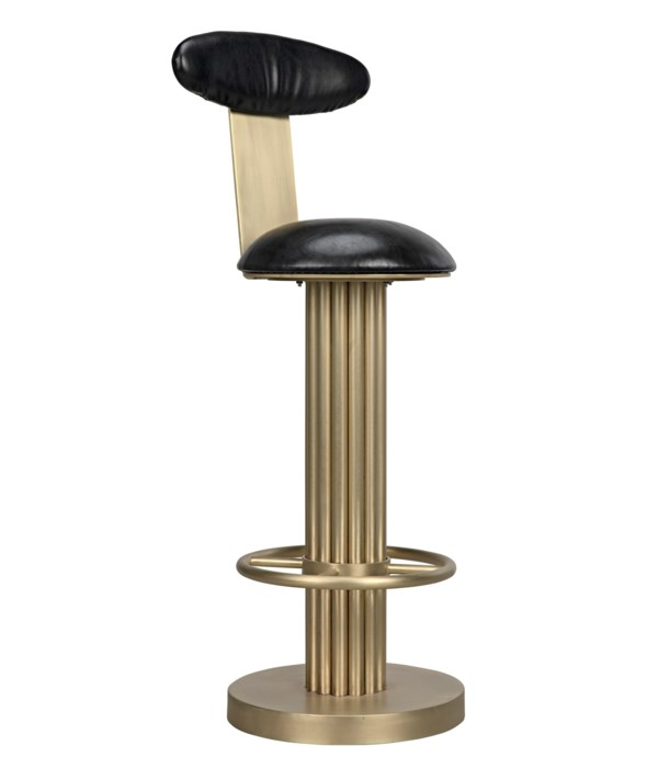 Sedes Bar Stool, Steel with Brass Finish