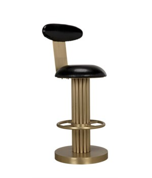 Sedes Counter Stool, Metal w/Brass Finish