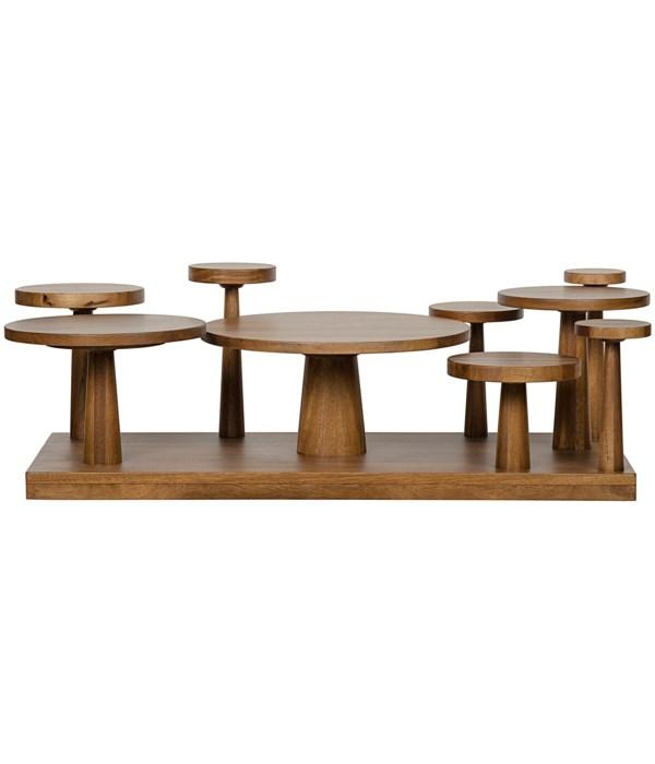 Anvil Coffee Table, Dark Walnut
