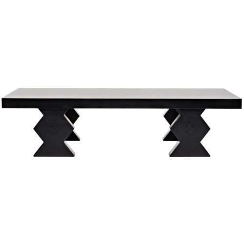 Suzu Coffee Table, Hand Rubbed Black