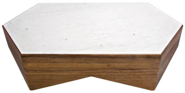 Amsterdam Coffee Table, Dark Walnut, Walnut and Quartz