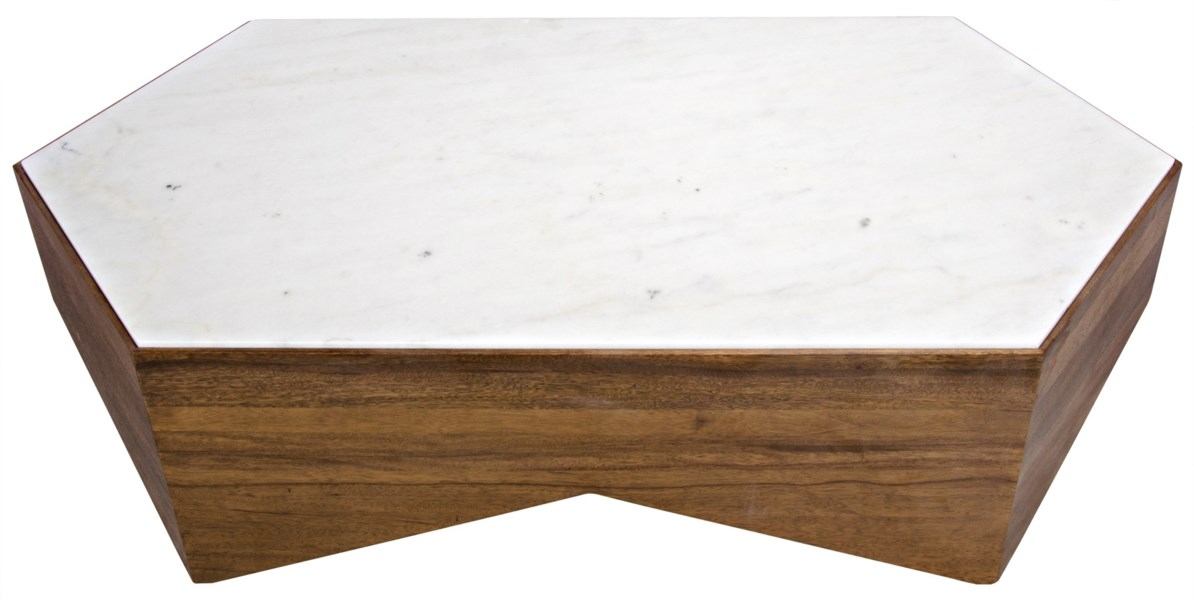 Amsterdam Coffee Table, Dark Walnut, Walnut and Quartz