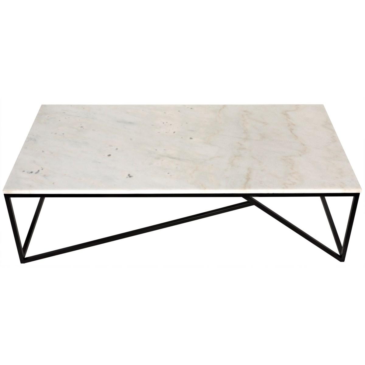Molimo Coffee Table with Black Metal